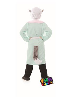 Child Fairytale Wolf Costume - Side View