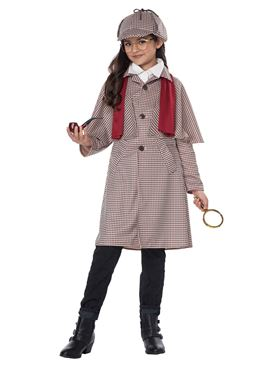Child Famous Detective Costume - Back View