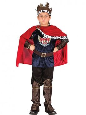 Child Fantasy Medieval King Costume