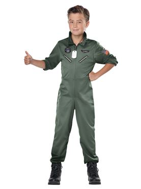 Child Fighter Pilot Costume - Side View