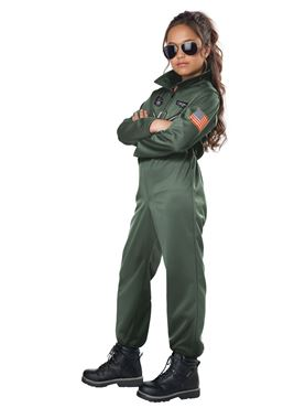 Child Fighter Pilot Costume - Back View