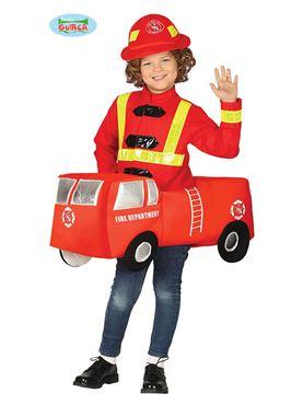 Child Fire Brigade Car Costume Couples Costume