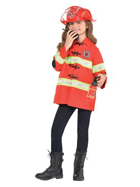 Child Firefighter Costume - Back View
