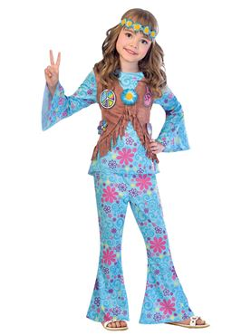 Child Flower Power Hippie Costume