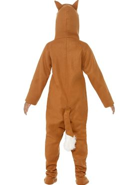 Child Fox Onesie Costume - Back View
