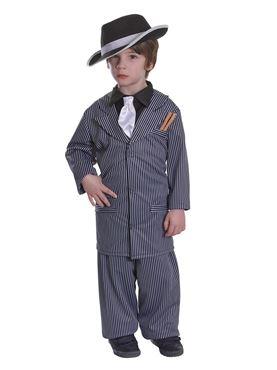 Child Gangster Boy Costume