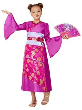 Child Geisha Costume - Back View