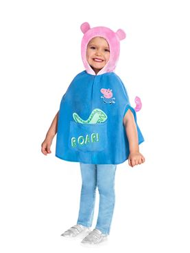 Child George Pig Cape Costume - Back View