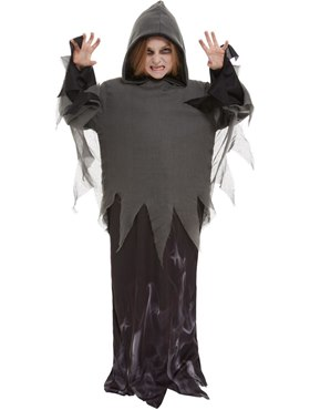Child Ghost Ghoul Costume - Back View