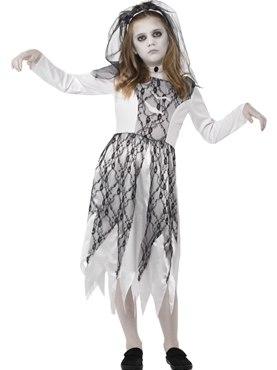 Child Ghostly Bride Costume