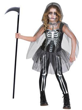 Child Girl Skeleton Reaper Costume
