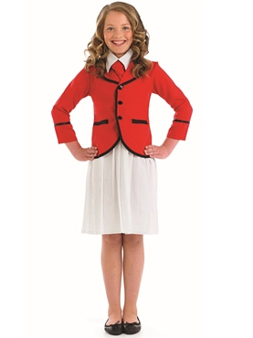 Child Girls Holiday Camp Helper Costume