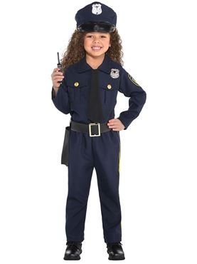 Child Girls Police Officer Couples Costume