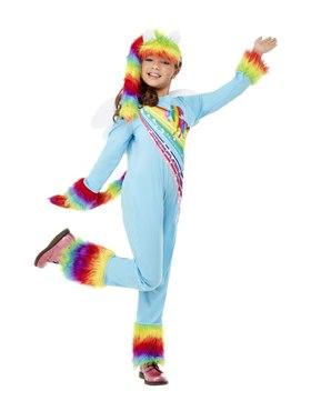 Child Girls Pony Costume - Back View