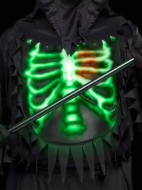 Child Glow Chest Reaper Costume - Back View