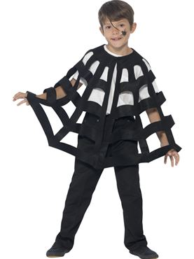Child Spider Cape - Back View