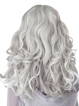 Child Glow In The Dark Ghost Wig - Side View