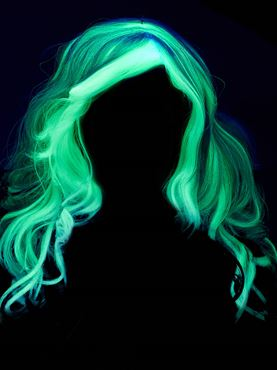 Child Glow In The Dark Ghost Wig - Back View