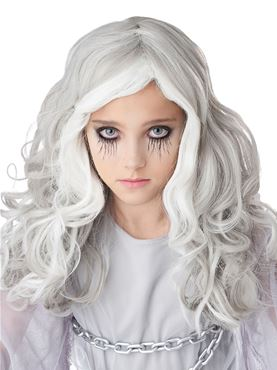 Child Glow In The Dark Ghost Wig