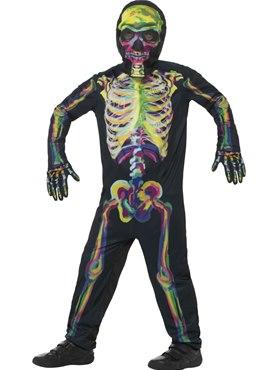 Child Neon Skeleton Costume