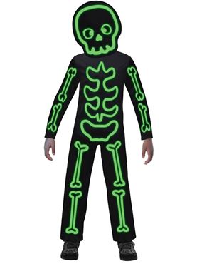 Child Glow in the Dark Stick Skeleton Costume