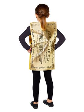 Child Golden Ticket Tabard - Back View