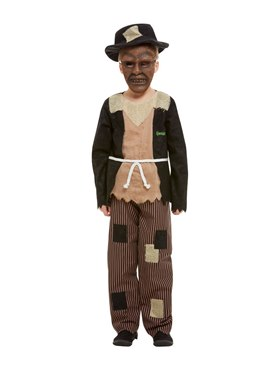 Child Goosebumps Scarecrow Costume - Back View