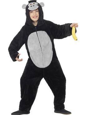 Child Gorilla Onesie Costume - Back View