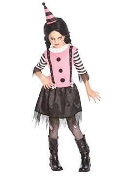 Child Goth Clown Costume