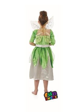 Child Green Pixie Fairy Costume - Side View