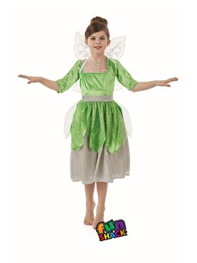 Child Green Pixie Fairy Costume - Back View