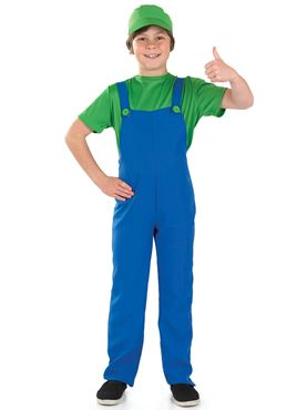 Child Green Plumbers Mate Costume