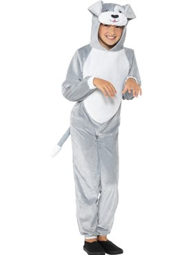Child Grey Dog Costume