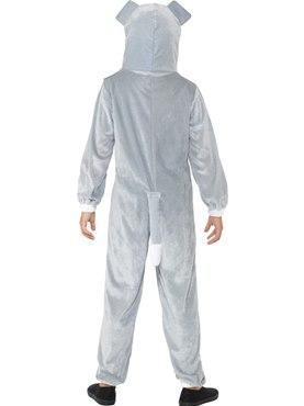 Child Grey Dog Costume - Side View