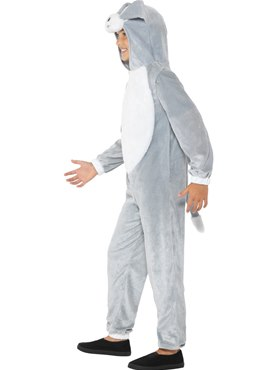Child Grey Dog Costume - Back View