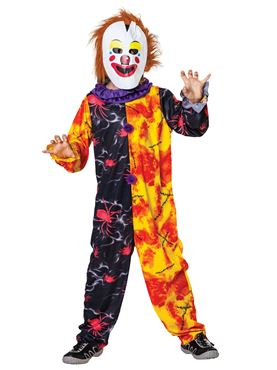 Child Halloween Clown Boy Costume