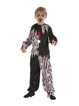 Child Harlequin Bloody Clown Costume