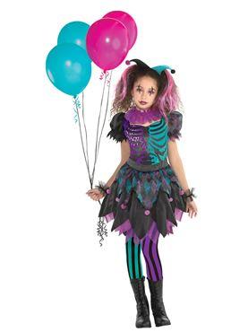 Child Haunted Harlequin Costume