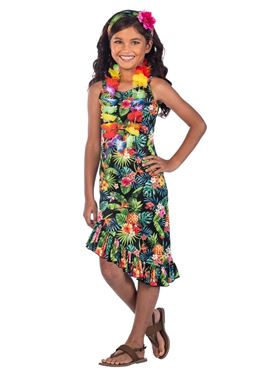 Child Hawaii Dress Black Costume
