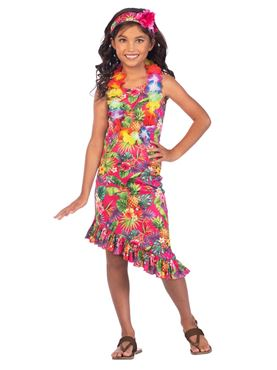 Child Hawaii Dress Pink Costume