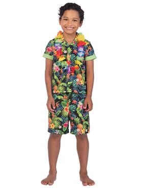 Child Hawaii Set Black Costume Couples Costume