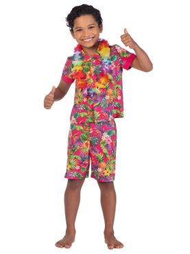 Child Hawaii Set Pink Costume Couples Costume