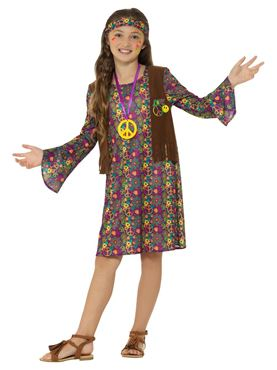 Child Hippie Girl Costume - Side View