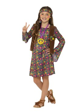 Child Hippie Girl Costume Couples Costume