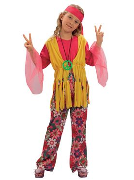 Child Hippy Girl Costume Thumbnail