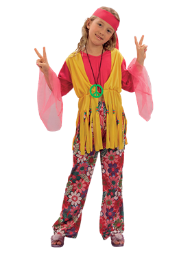 Child Hippy Girl Costume Couples Costume