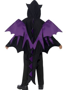Child Hooded Creature Cape Costume - Back View