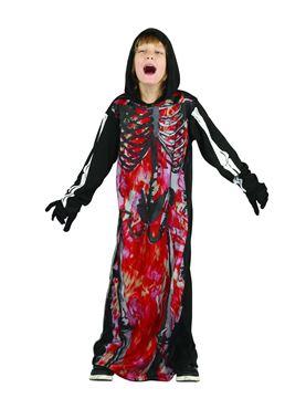 Child Hooded Demon Skeleton Costume