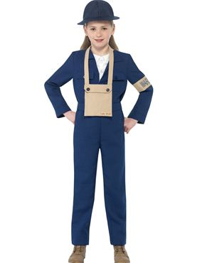Child Horrible Histories Air Warden Costume