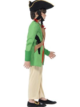Child Horrible Histories Blackbeard Costume - Back View